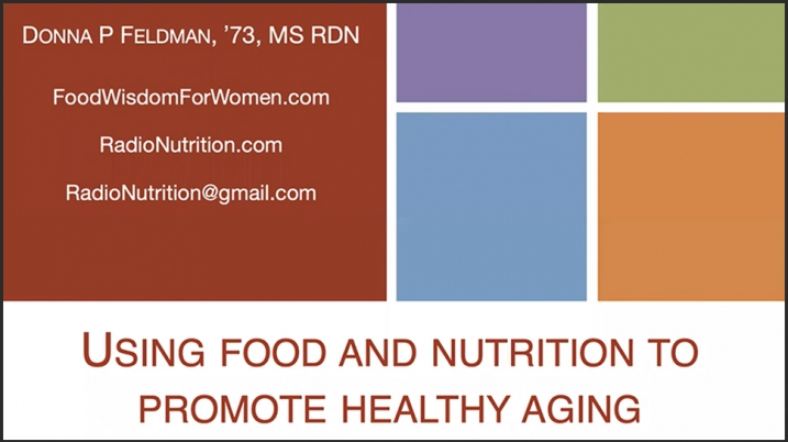 Video still of title screen from Nutrition video