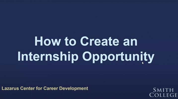 Video still from How to Create an Internship Opportunity