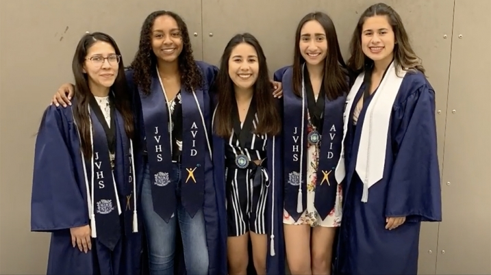 Ale Munoz Garcia '23 and friends at high school graduation