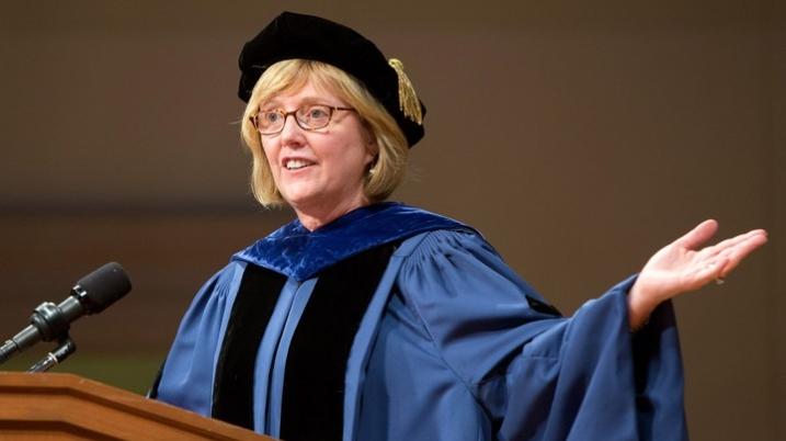 President McCartney Addresses School for Social Work Graduates