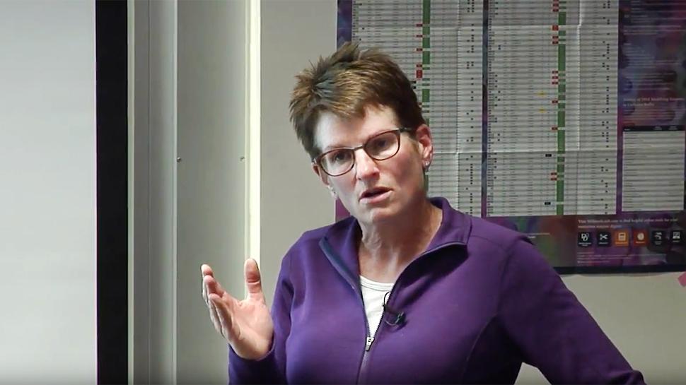Erin O'Shea speaking during her keynote address