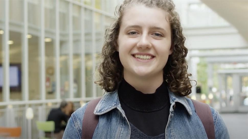 Video still of Hannah Gates '22