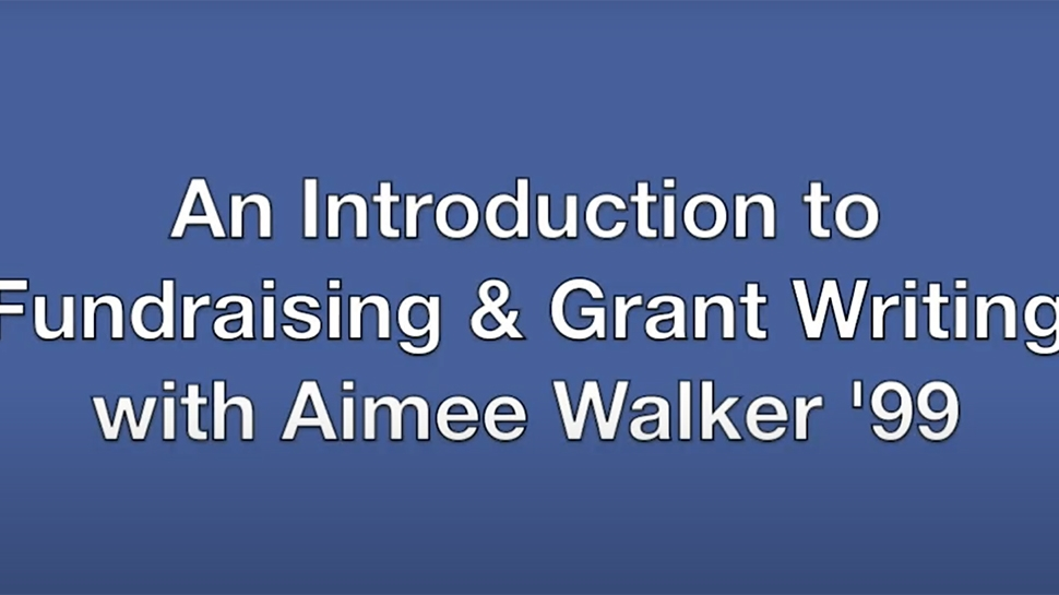 Video still for an intro to fundraising and grant writing