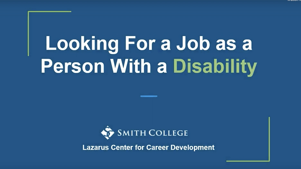 Still for Video on Looking for a Job as a Person With a Disability