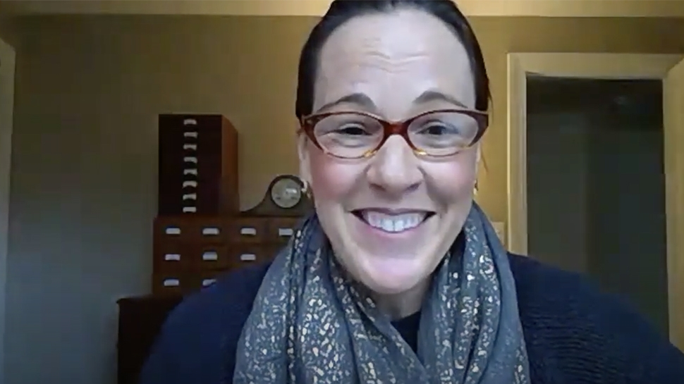 Video still of Patricia Woods