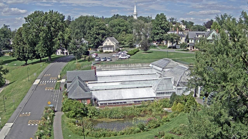 Aerial webcam view of Lyman Conservatory