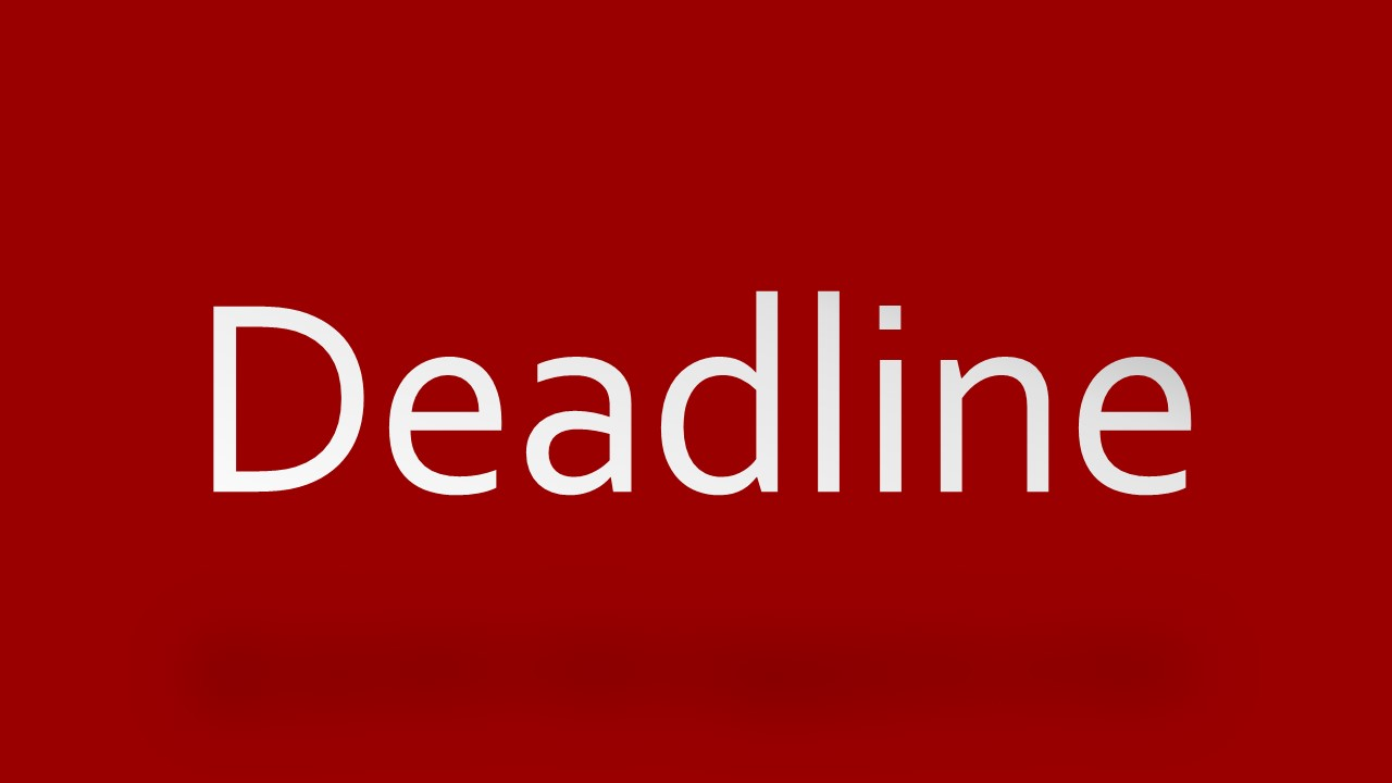 dissertation deadline Every term has firm deadlines related to each part of the thesis and dissertation  submission process the instructions for meeting these deadlines are described .