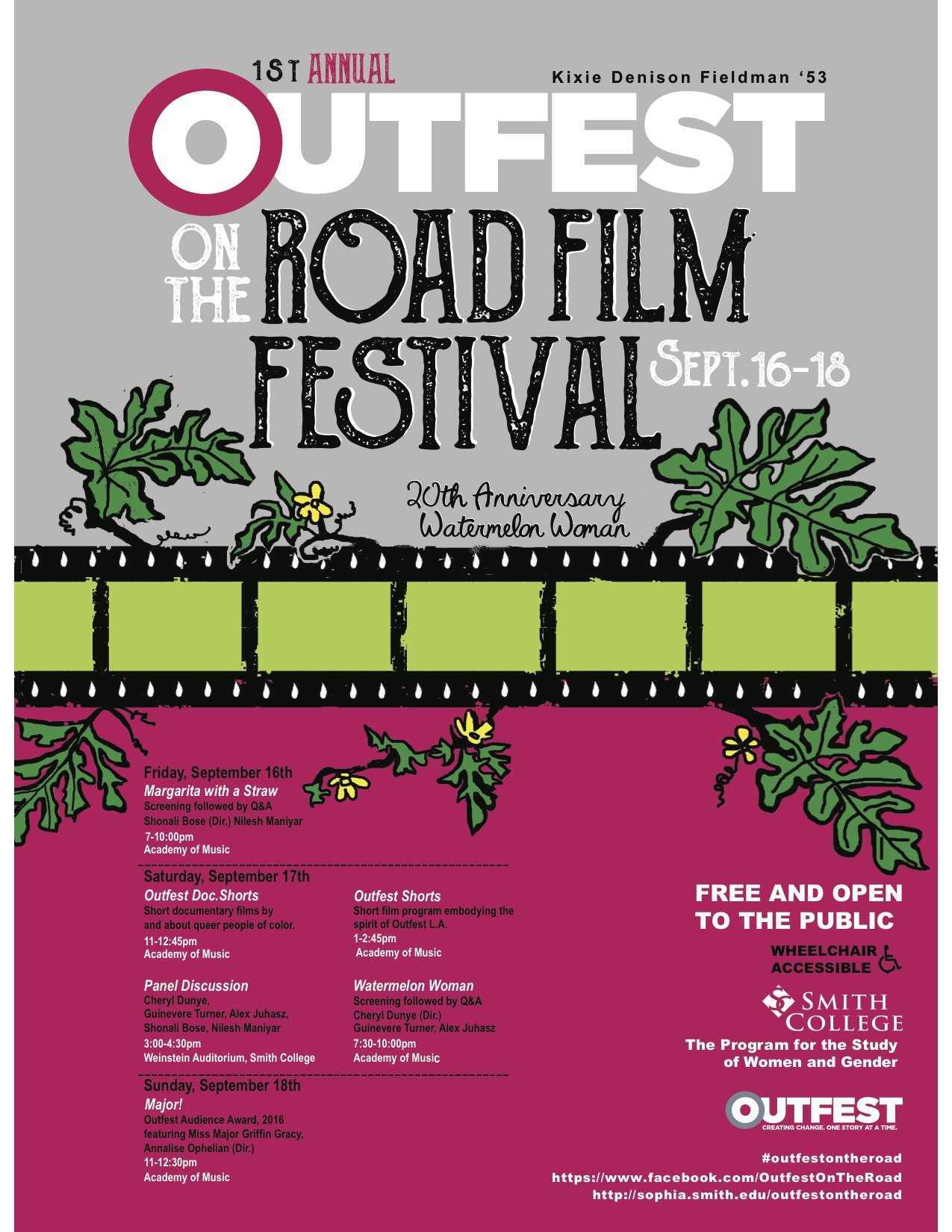 The Program for the Study of Women and Gender is excited to announce the first annual Outfest onto Road Film Festival. Outfest on the Road offers attendees ...