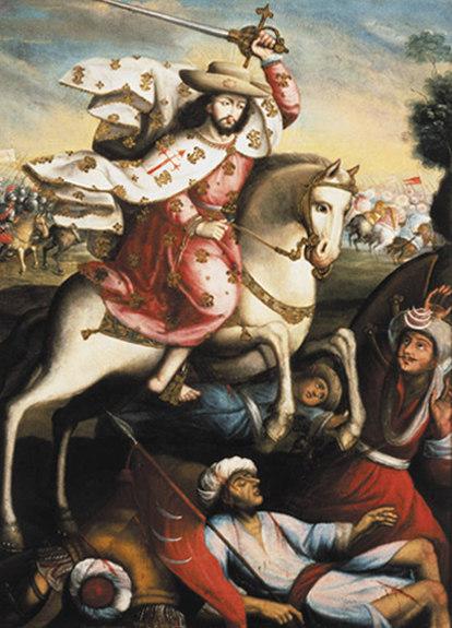 El apóstol Santiago, en la batalla de Clavijo