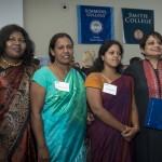 Radhika Coomaraswamy with delegates.