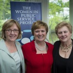 The three college presidents, Kathleen McCartney (Smith), Lynn Pasquerella (Mount Holyoke), and Helen Drinan (Simmons).