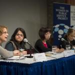 Panelists Gould, Salim, Nguyen and Steinem.
