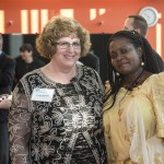 Sandy Doucett, Smith associate vice president for development, and Irene Nakasolya
