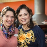 Beth Raffeld, Smith vice president for development, and Van Thi Khanh Le