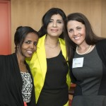 Thouiba Galad (left), Gihan Abdalla (center) and student ambassador Maria Jose Correa