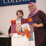Smith Provost Marilyn Schuster (left), with Rini Maryam