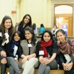 From the left, Delegates Chanda Thapa, Sadia Farid (standing), Joanna Dhanabalan, Mariya Salim, Tasmiah Tabassum Rahman and Reaksmey Arun.